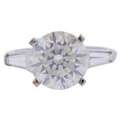 GIA 5.10 Carat K I1 Diamond Platinum Engagement Ring