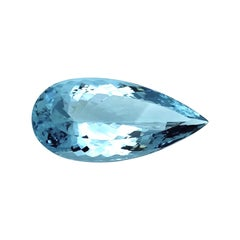 GIA 76.22 Carat Aquamarine Pear Shape, Unset Loose Pendant Collector Gemstone