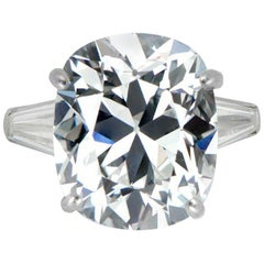 GIA Brilliant Old Mine Cushion 5 Carat Diamond Ring