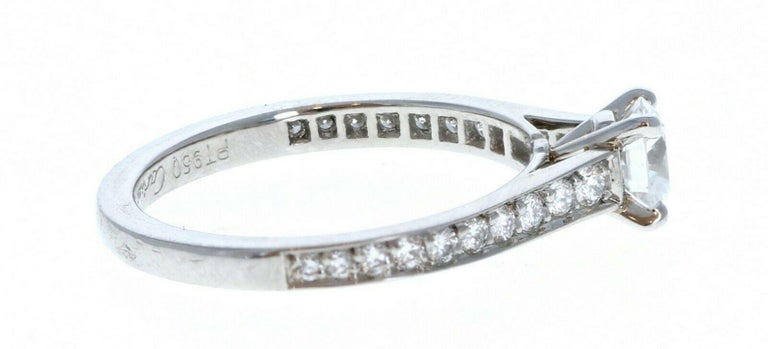GIA Cartier Platinum & Diamond Ring 0.52ctw with Papers F VVS1 For Sale 1