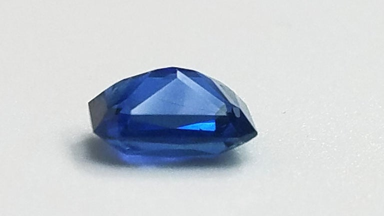Contemporary GIA Cert. 4.61 Carat Gem Quality Emerald Cut Heated Blue Sapphire Loose Stone For Sale