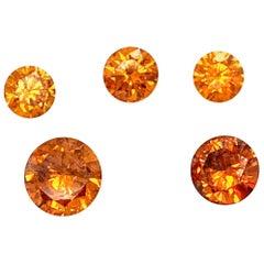 GIA Certefied 3.20 Carat Natural Orange Round Brilliant Cut Diamonds
