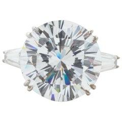 GIA Certified 5.50 Carat Round Brilliant Diamond Ring VS2 Clarity H Color