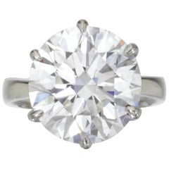 GIA Certiffied 3 Carat Round Brilliant Cut Diamond Ring I VS2