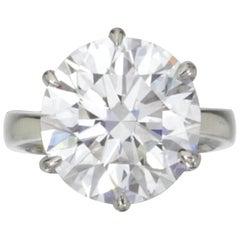 GIA Certiffied 3.21 Carat Round Brilliant Cut Diamond Ring I VS2