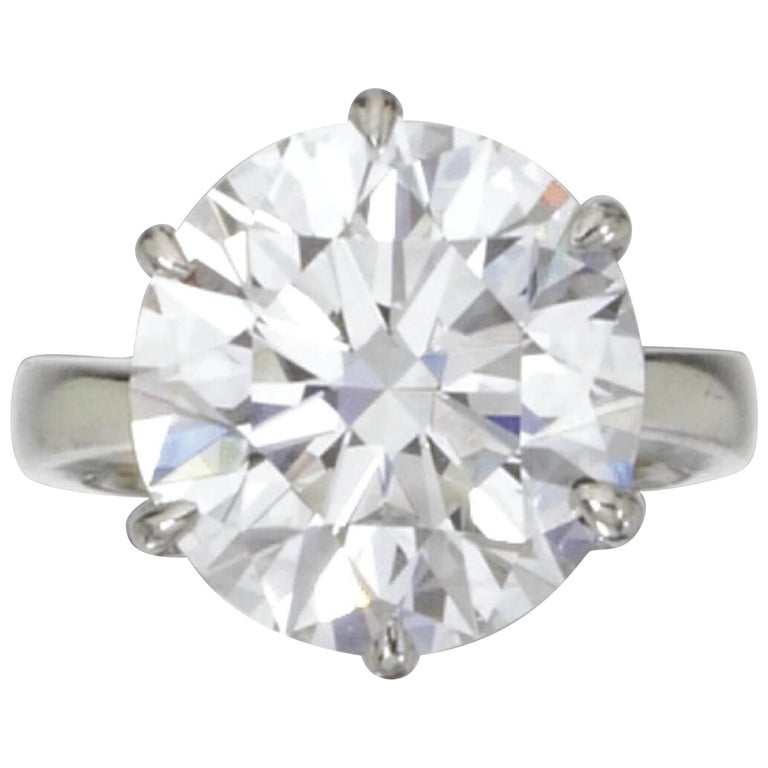 GIA Certiffied 3.21 Carat Round Brilliant Cut Diamond Ring I VS2 For Sale
