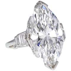 GIA Certificated Internally Flawless Marquise Diamond Solitaire Engagement Ring