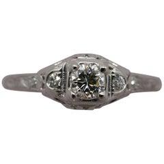 GIA Certified 0.30 Carat Diamond Ring 18 Karat White Gold by Birks