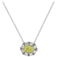 GIA Certified 0.50 Carat Fancy Yellow Necklace