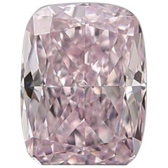 GIA Certified 0.42 Fancy Purplish Pink Cushion Diamond