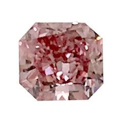GIA Certified 0.53 Carat Fancy Deep Pink Radiant