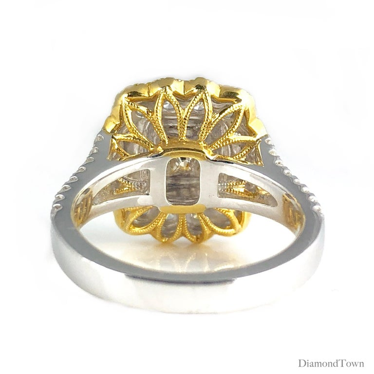 Women's GIA Certified 0.68 Carat Natural Fancy Yellow Diamond Ring in 18 Karat Gold For Sale
