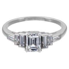GIA Certified 0.71 Carat D Color Diamond Platinum Engagement Ring
