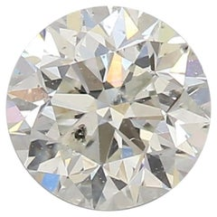 GIA Certified 0.73 Carat Round Cut J I1 Loose Diamond