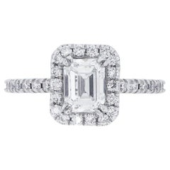 GIA Certified 0.83 Carat Diamond Engagement Ring