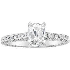 Roman Malakov, GIA Certified Elongated Cushion Cut Diamond Engagement Ring