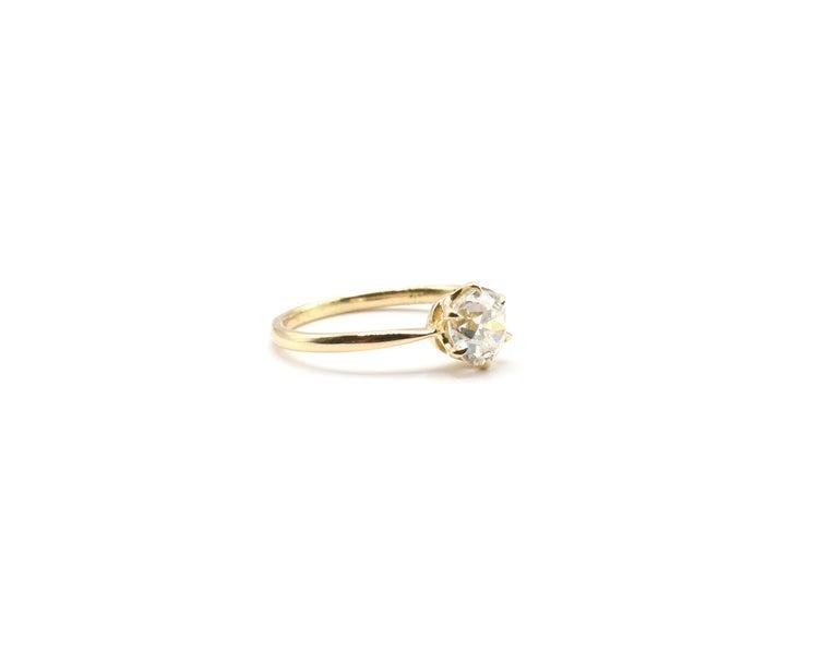 Modern GIA Certified 0.98 Carat Old European Brilliant I VS 2 Diamond Engagement Ring For Sale