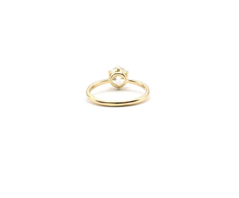 Women's or Men's GIA Certified 0.98 Carat Old European Brilliant I VS 2 Diamond Engagement Ring For Sale