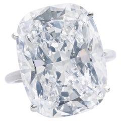 GIA Certified 10 Carat Cushion Cut Diamond Platinum Ring VS2 Clarity G Color