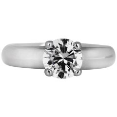 GIA Certified 1.0 Carat, D-Color Solitaire Diamond Ring in Platinum, by Boodles