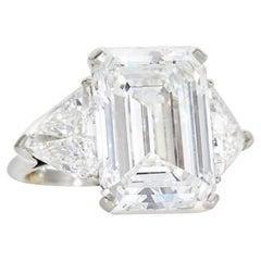 GIA Certified 10 Carat 'Main Stone' Emerald Cut Diamond Ring