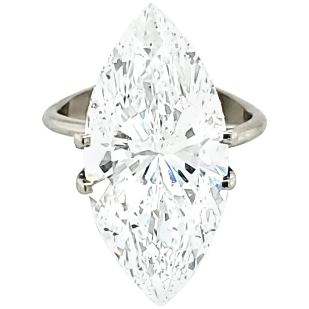 GIA Certified 10 Carat Marquise Cut Diamond