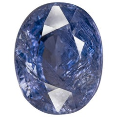 GIA Certified 10 Carat No Heat Color Change Sapphire Oval