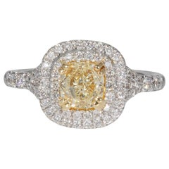 GIA Certified 1.00 Carat Diamond Cocktail Ring