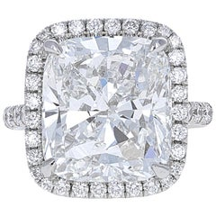 GIA Certified, 10.01 Carat Cushion Modified Brilliant Engagement Ring