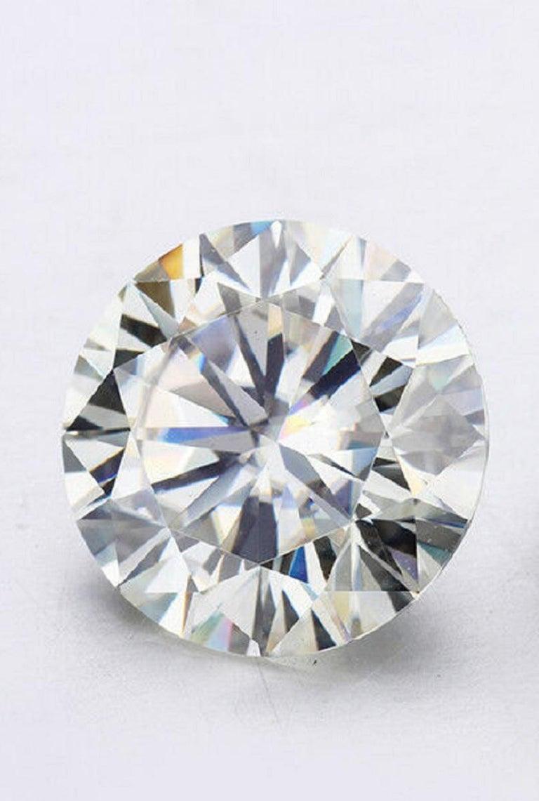 Round Cut GIA Certified 6 Carat Round Brilliant Cut Diamond Platinum Solitaire Ring  For Sale