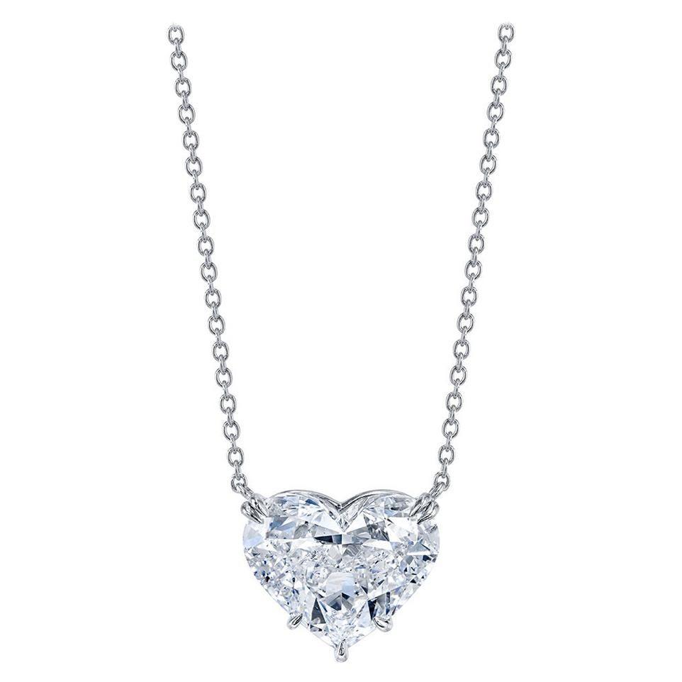 GIA Certified 10.01 Carat Heart Shape Diamond Pendant Necklace