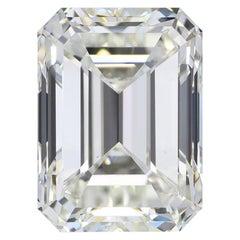 GIA Certified 10.01 Carat K VS2 Emerald Cut Diamond