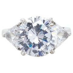 GIA Certified 10.01 Carat Round Brilliant Cut Diamond Ring