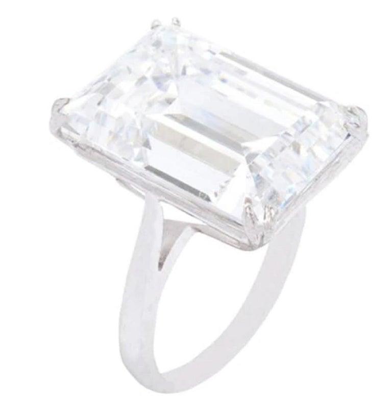 Gia Certified 7 Carat Emerald Cut Diamond Ring VS2 Clarity