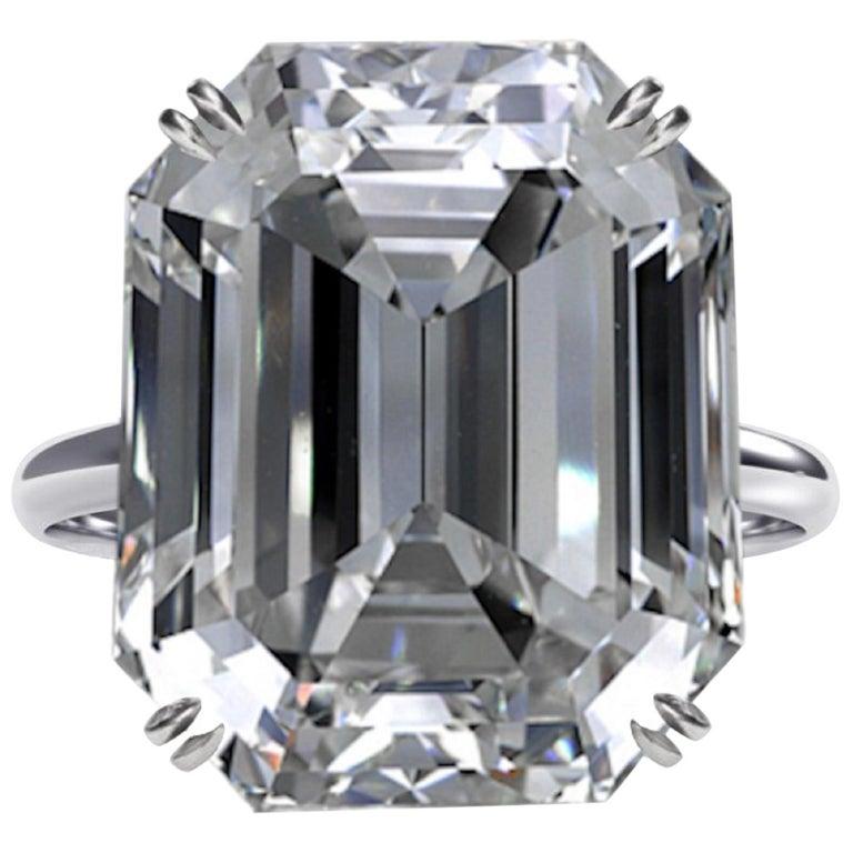 GIA Certified 10.02 Carat Emerald Cut Diamond Ring For Sale