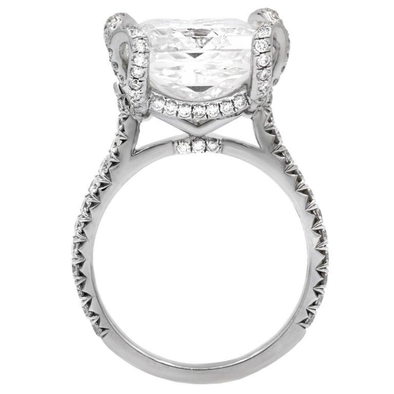 GIA Certified 10.02 Carat Princess Cut Diamond Ring