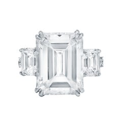 GIA Certified 10.02 Carat Emerald Cut Diamond Ring