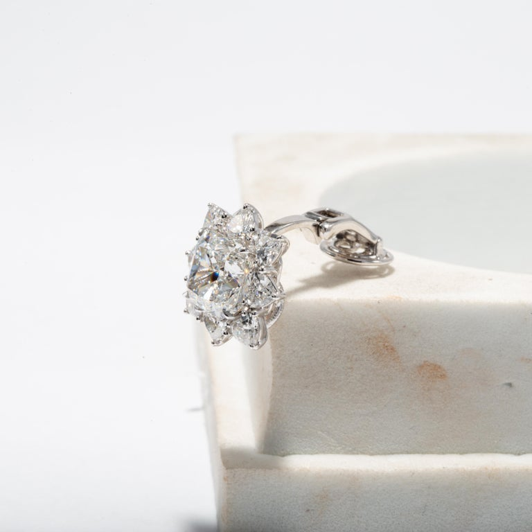 Contemporary GIA Certified 10.03 Carat Cushion Diamond Earrings For Sale