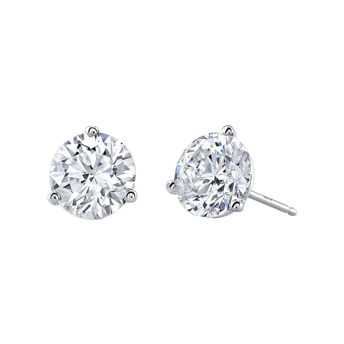 GIA Certified 10.04 Carat Diamond Stud Earrings