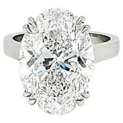 GIA Certified 10.08 Carat Oval Diamond Solitaire Ring
