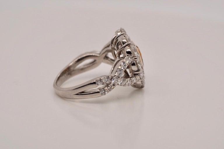 GIA Certified 1.01 Carat Diamond Heart Platinum Ring 1
