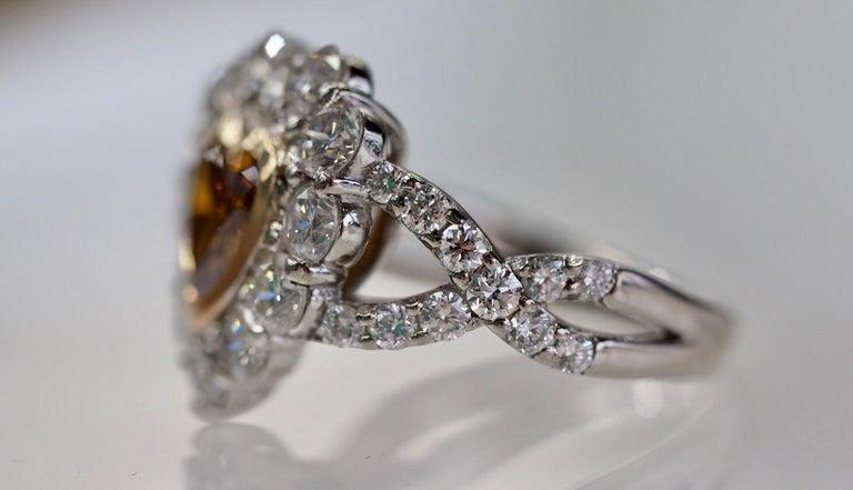 GIA Certified 1.01 Carat Diamond Heart Platinum Ring 3