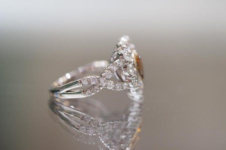 GIA Certified 1.01 Carat Diamond Heart Platinum Ring 4