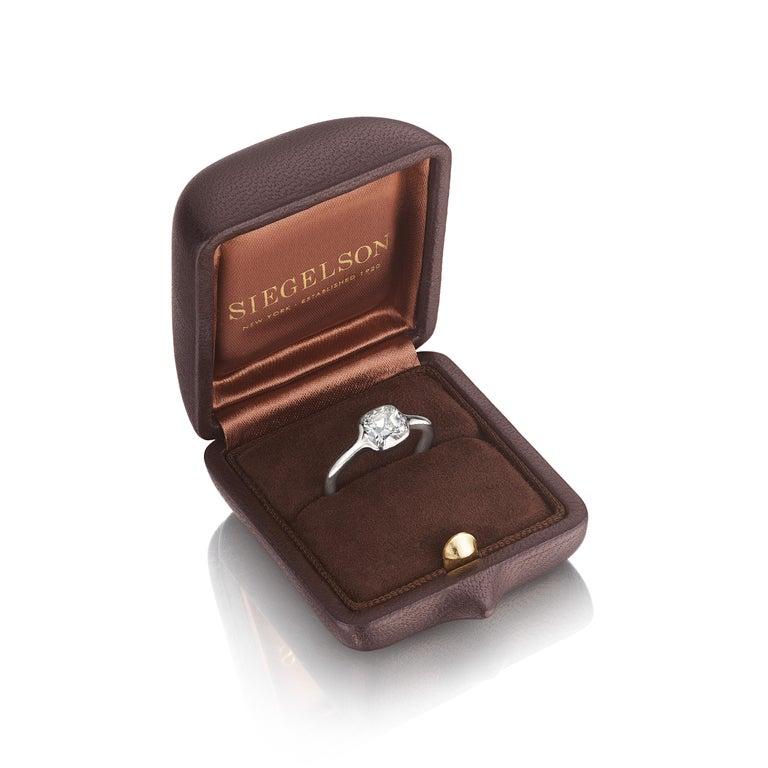 Cushion Cut GIA Certified 1.01 Carat Diamond Platinum Ring For Sale