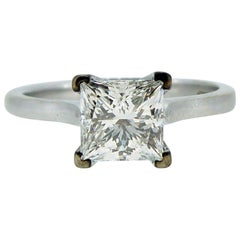 GIA Certified 1.01 Carat Diamond Solitaire Ring, F Color, VS1 Clarity, Platinum