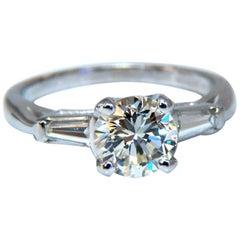 GIA Certified 1.01 Carat L/VS1 Diamond Engagement Ring Platinum Prime