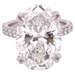 GIA Certified 10.14 Carat Oval Diamond Engagement Ring