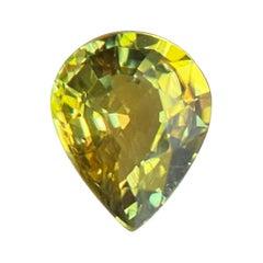 GIA Certified 1.01ct Untreated Vivid Yellow Sapphire Pear Teardrop Cut Gem