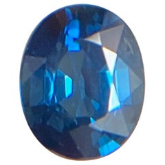 GIA Certified 1.01ct Vivid Blue Untreated Sapphire Oval Cut Unheated Rare Gem