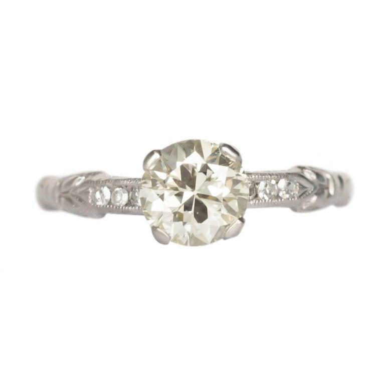 GIA Certified 1.02 Carat Diamond Platinum Engagement Ring